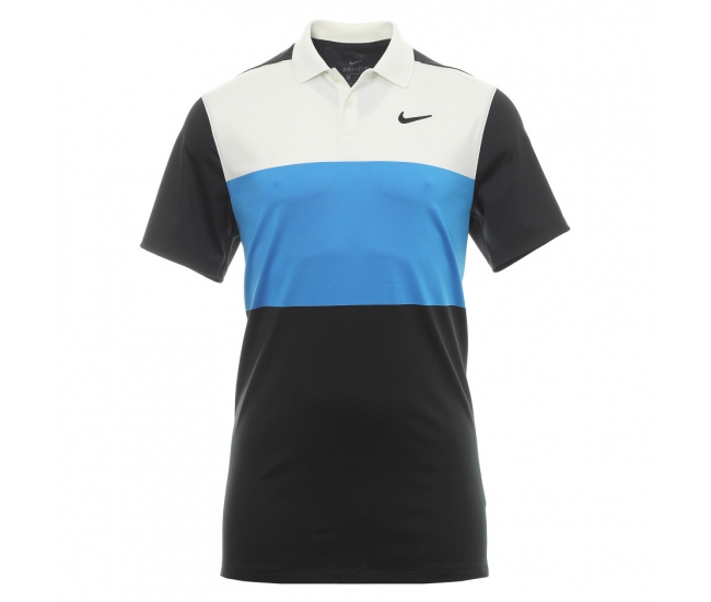 Men's functional T-shirt with short sleeves Nike DRY VAPOR POLO CB black